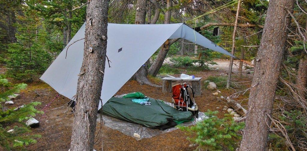 tarp over tent