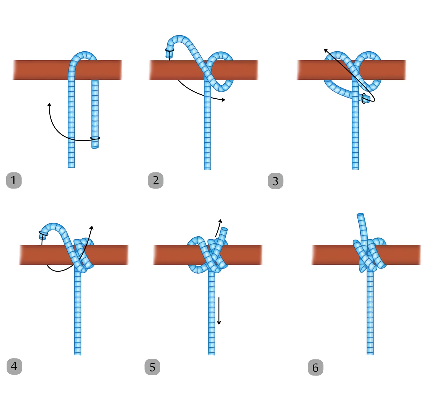 this is what a rolling hitch knot looks like