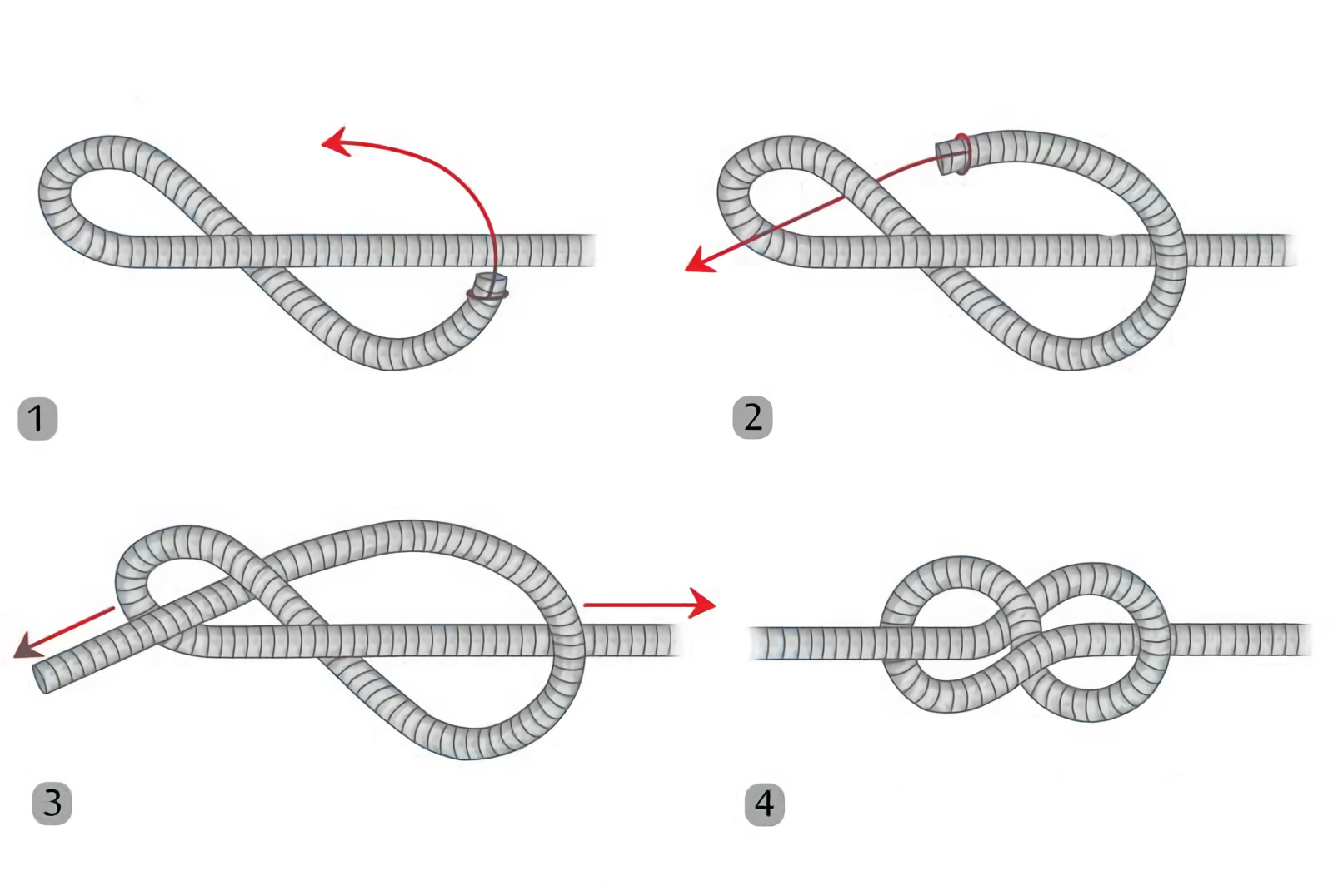 this is what a figure eight knot looks like