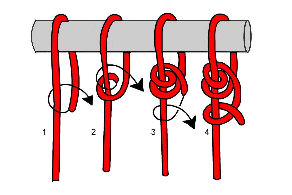this is what a taut line hitch knot looks like